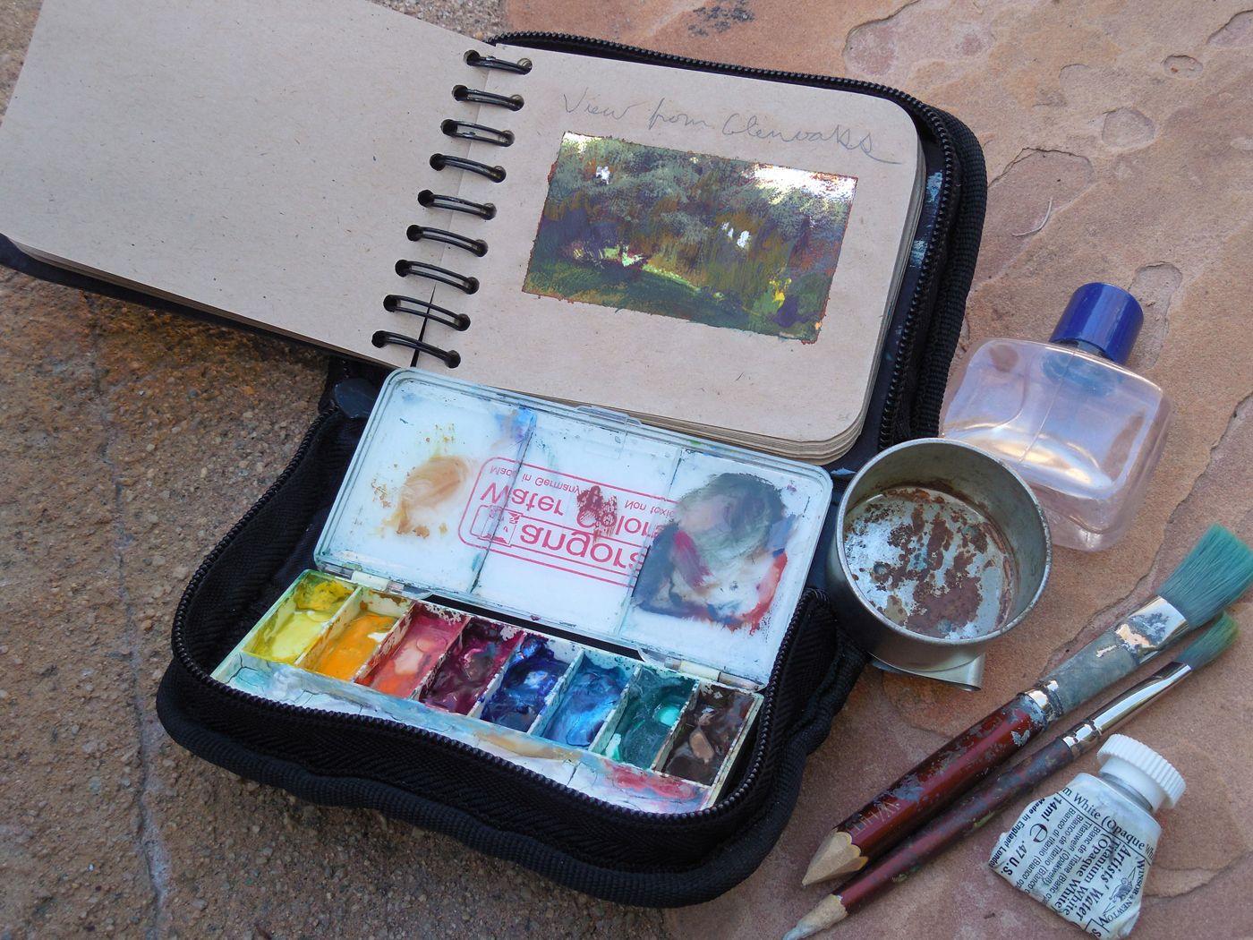 Kit Watercolor Kit Travel Art Kit Watercolor And Ink