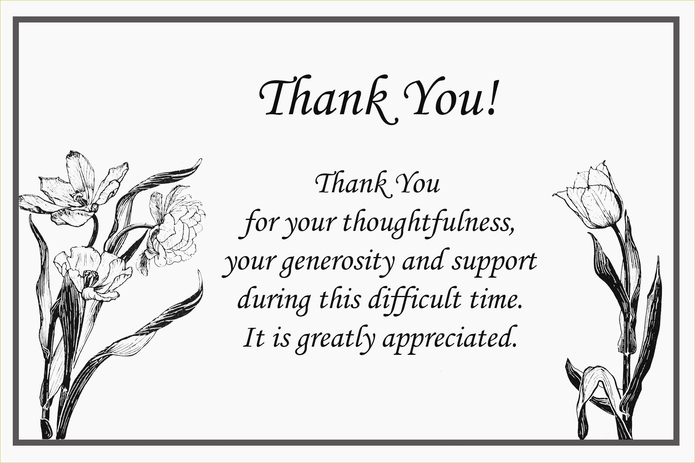 thank you response for sympathy cards note card awesome