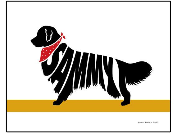 Personalized Golden Retriever Print  Dog Lover's by ElainesPrints, $25.00 for Katina <3