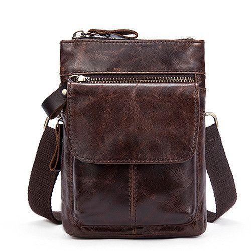 7cb24acd72 WESTAL Genuine Leather Bag Men Bags Leather Belt Waist Pack Men Messenger  Bags Male Phone Small Flap Male Shoulder Crossbody Bag