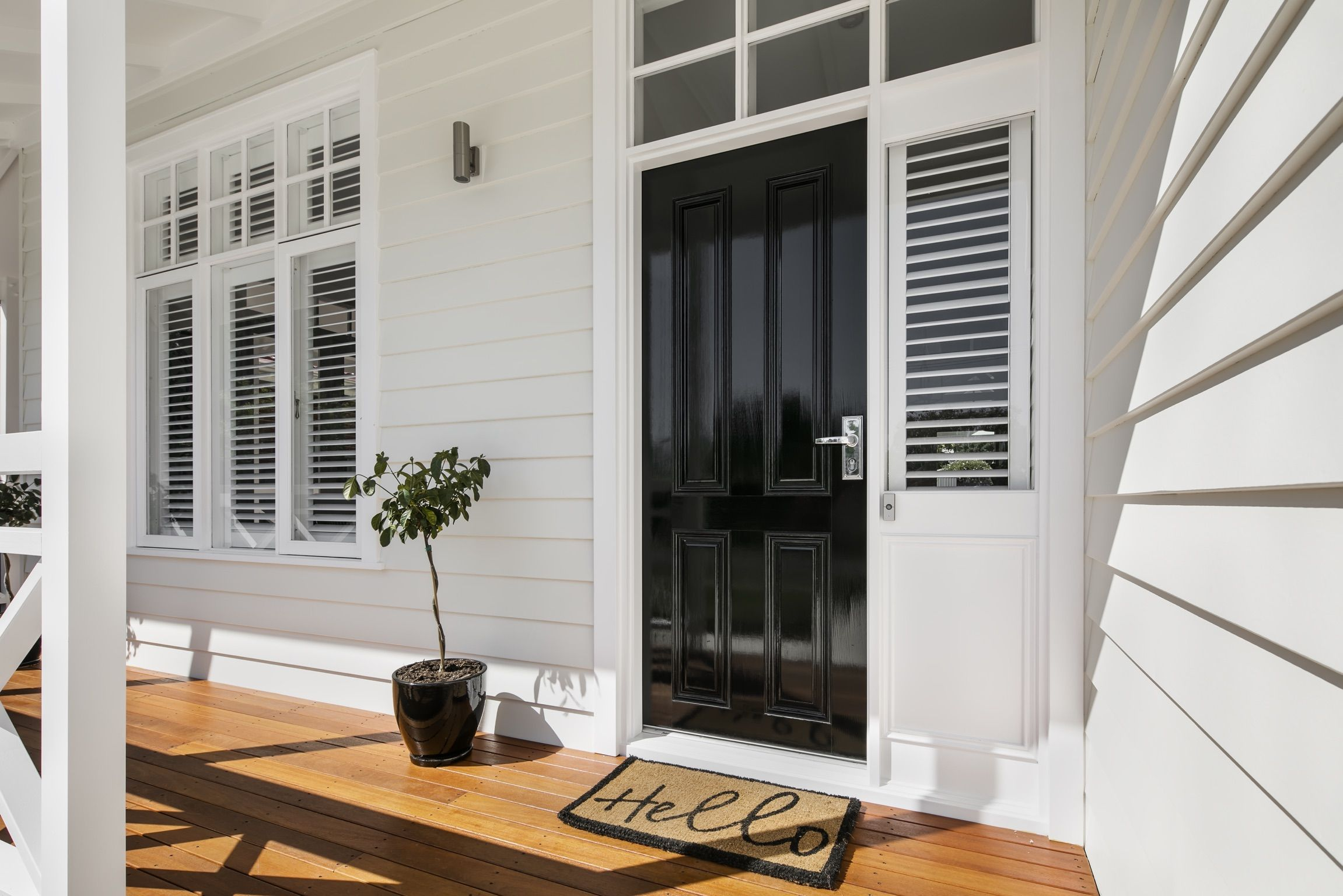 A Neutral Colour Palette And Scyon Linea Weatherboards Are