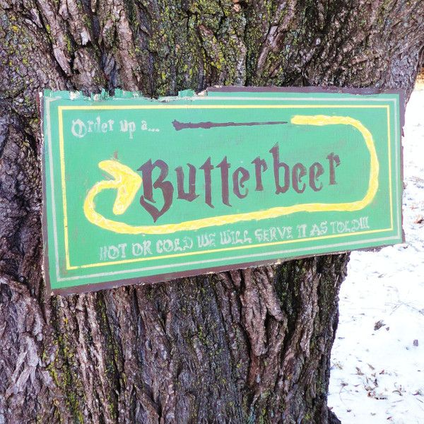 Vintage Wooden Signs Home Decor Captivating Butterbeer Vintage Advertising Sign $65 ❤ Liked On Polyvore Inspiration Design