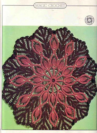 World crochet: Napkin 474