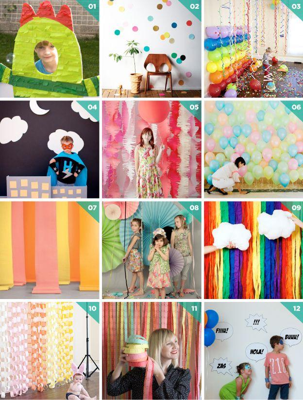 12 ideas para un photocall partyculars event for Decoracion de photocall