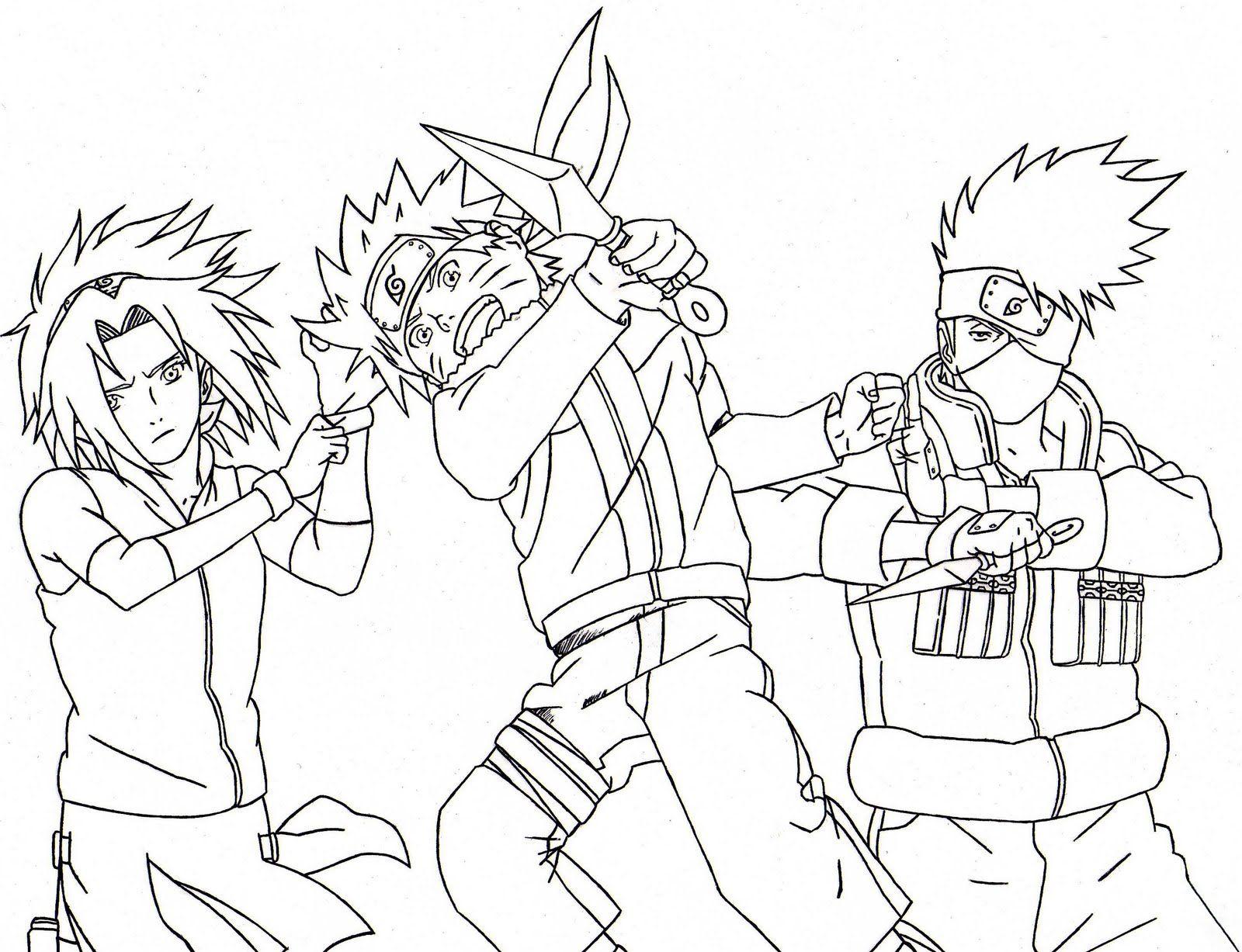 Dibujos De Kakashi Para Colorear: Dibujos De Naruto Para Imprimir. Beautiful Dibujos De