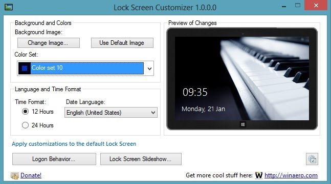 Change Windows 8 Lockscreen Automatically With Lock Screen Customizer Change Image Lockscreen Change