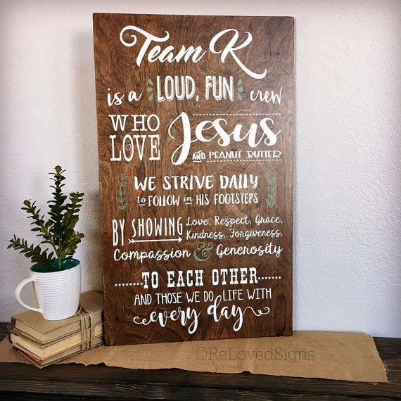 Mission Statement Sign Family Mantra Family By Relovedsigns Wooden Family Signs Entry Decor Family Mission Statements