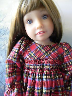 Holiday-Plaid-Smocked-Nightgown-for-a-KidznCats-Doll-by-lkb