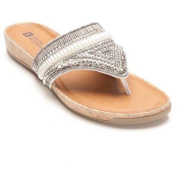 bd5258037e13 White Mountain White Clary Jeweled Sandal - Women s ( 17) ❤ liked on  Polyvore featuring shoes