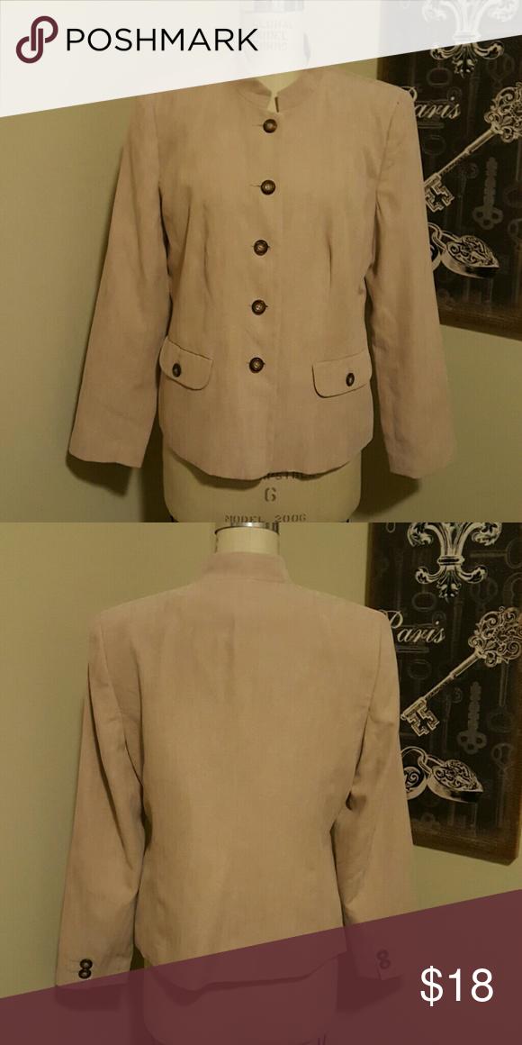 42880f3fe1 Dressbarn Womens Blazer Dressbarn Womens size Large Tan Blazer Dress Barn  Jackets   Coats Blazers