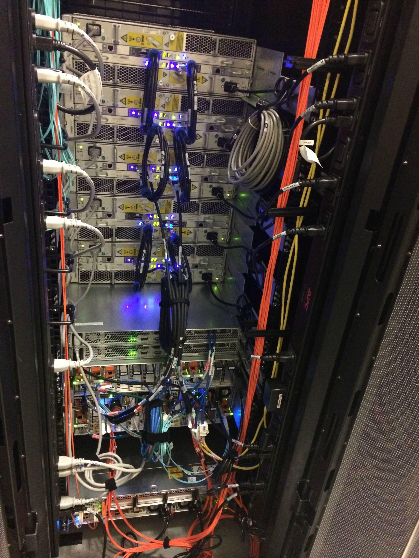 cable management in an enterprise class san emc vnx 5400 [ 1836 x 2448 Pixel ]