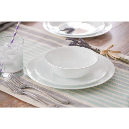 Corelle Livingware Winter Frost 32-Piece Dinnerware Set Service for 8 - Walmart.com $50 | Houseware Wishlist | Pinterest | Dinnerware  sc 1 st  Pinterest : corelle 32 piece dinnerware set - pezcame.com