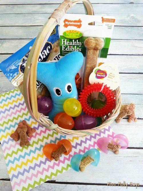 Diy Easter Basket For Dogs 12daysof Puppy Easter Basket Easter Diy Easter Basket Diy
