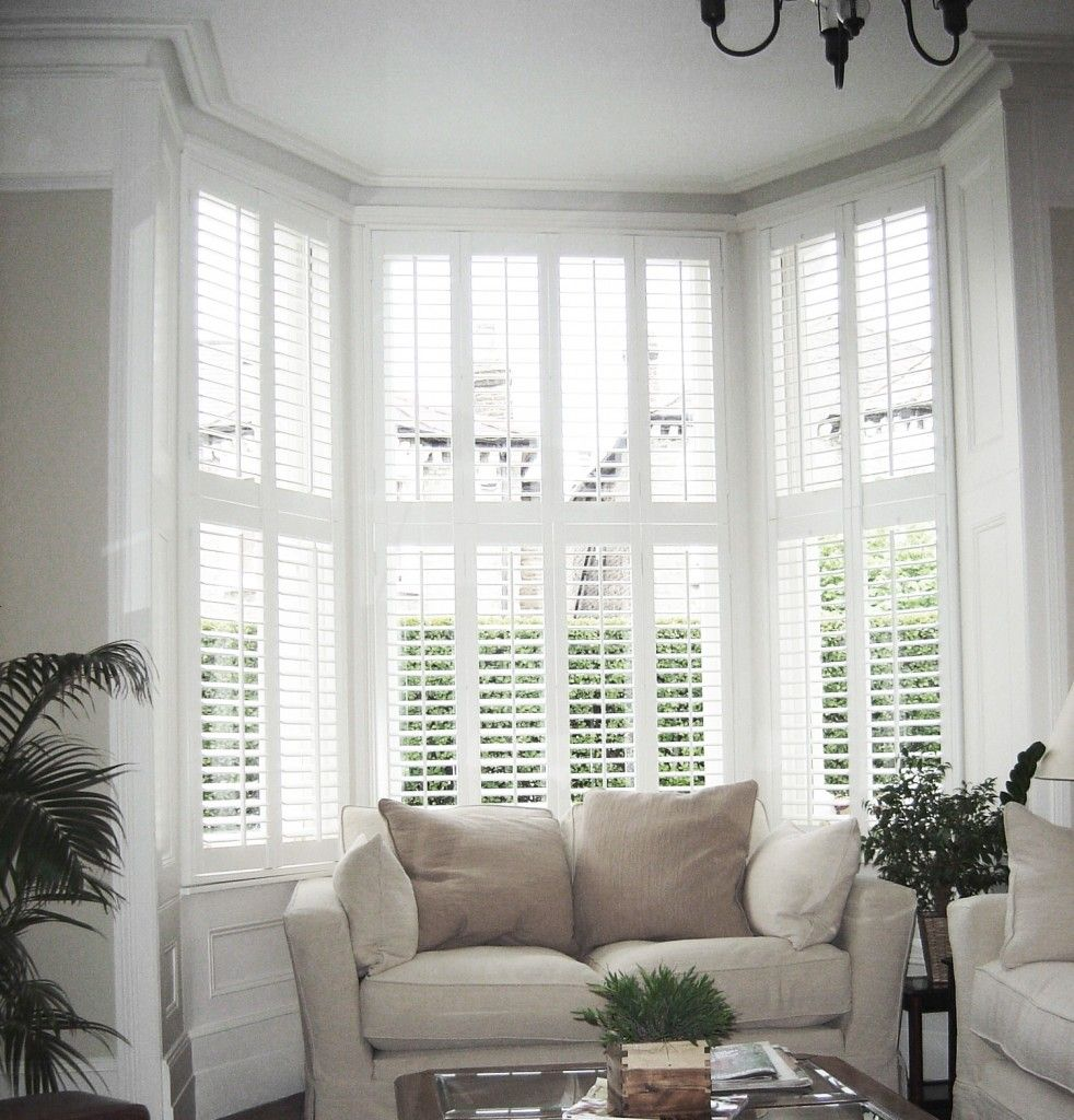 Shutters Are Made To Measure To Fit Bay Windows Square Bay L Shaped Bow Or A Splayed Bay Window E Bay Window Living Room Living Room Windows Bay Window Seat