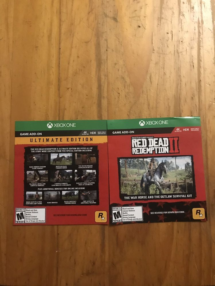 Red Dead Redemption 2 Ultimate Edition Dlc Only Microsoft Xbox One 2018 Reddeadredemption Gaming Xboxone Red Dead Redemption Xbox One Redemption