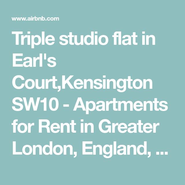 Triple Studio Flat In Earl's Court,Kensington SW10