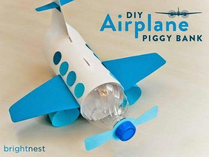 Pin von myriam sosa auf juguetes reciclado s pinterest - Flugzeug basteln mit kindern ...