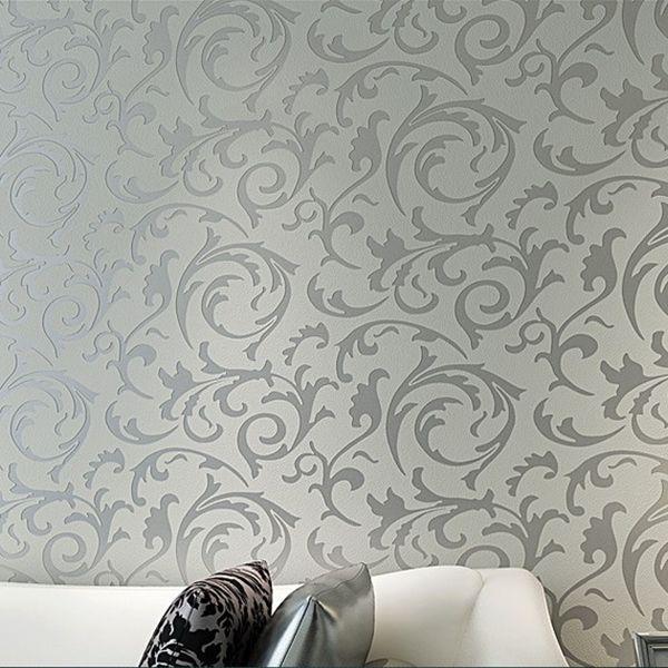 Luxury 3d Victorian Damask Embossed Feature Wallpaper Rolls Tv