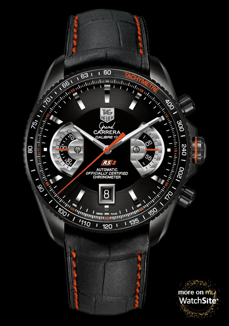 2b2861932b9 GRAND CARRERA Calibre 17 RS2 Chronograph Ti2 - Black Titanium - Alligator  Strap - TAG Heuer