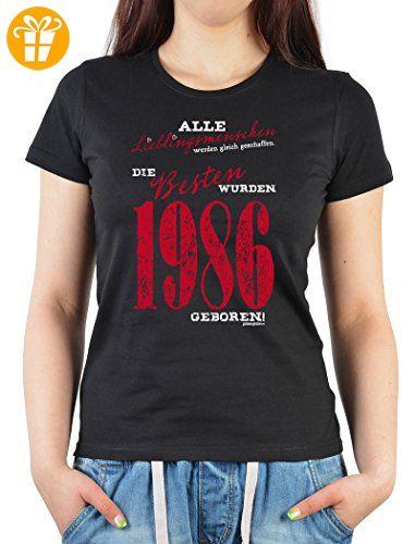 Alle Lieblingsmenschen wurden gleich geschaffen die Besten wurden 1986  geboren Damen Jahrgangs/Geburtstags-Shirt