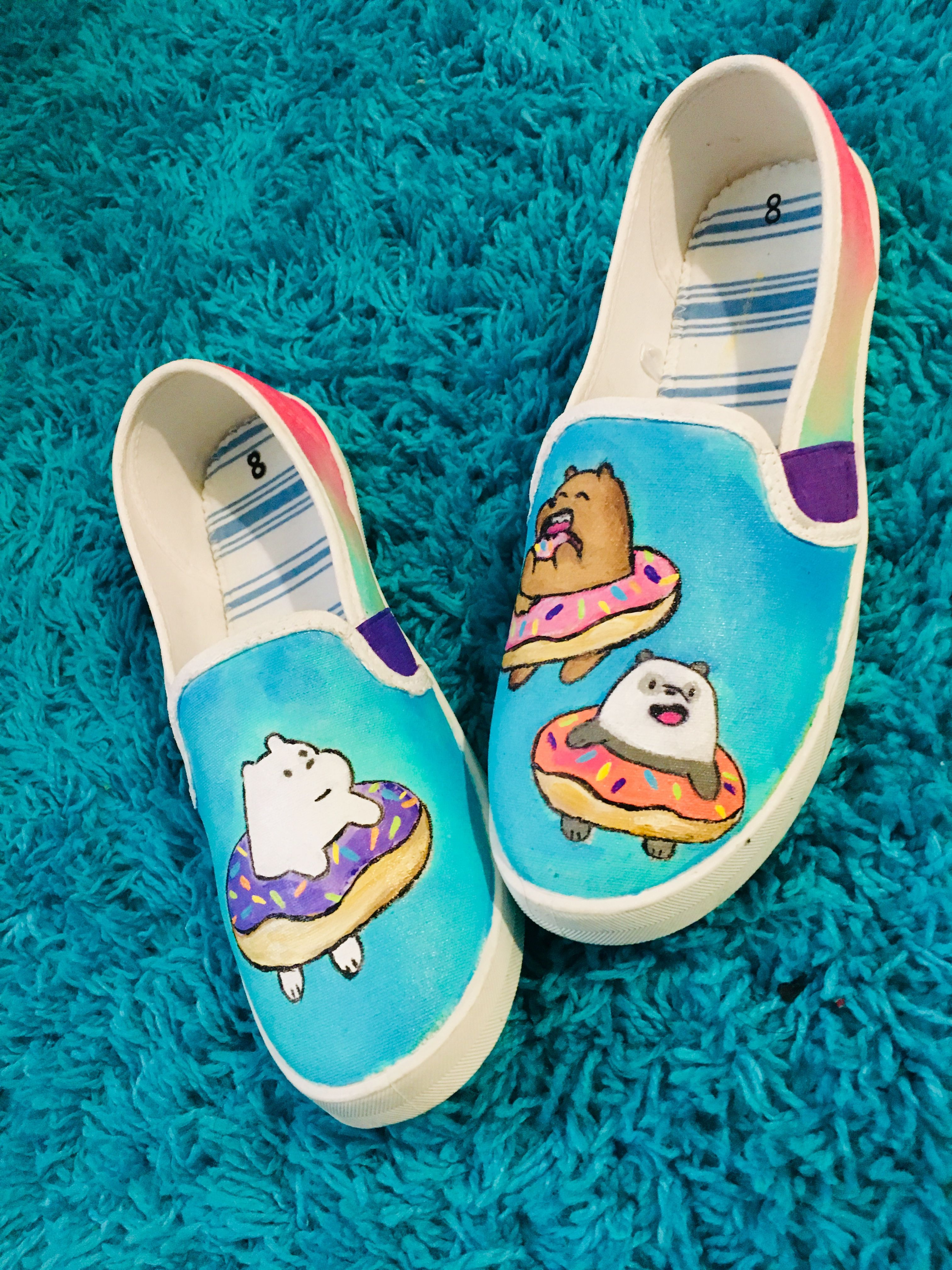 Painted shoes, Painted canvas shoes