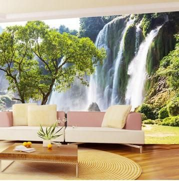 Custom photo wallpaper large 3d living room sofa for 3d wallpaper for home wall bangalore