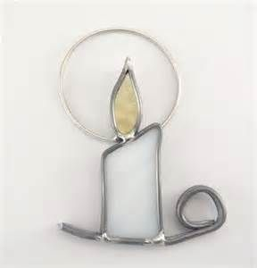 stained glass candle christmas ornament - AT Yahoo! Image Search Results