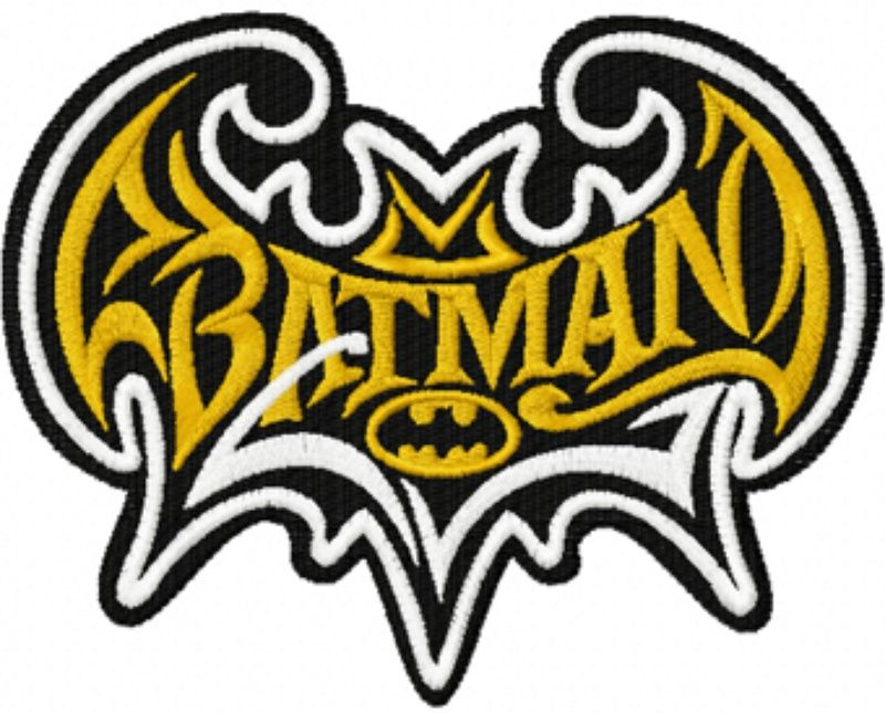 Photo of batman modern logo machine embroidery design in