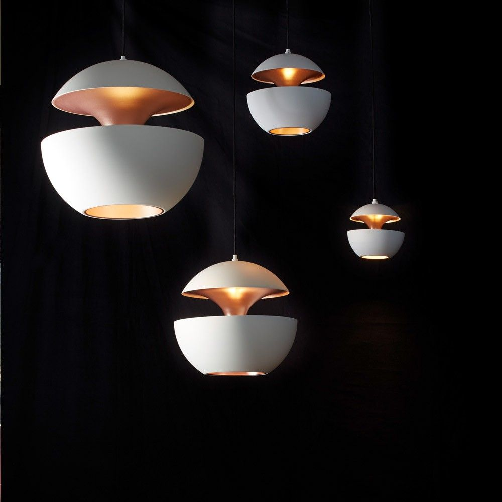 DCW+Editions+Here+Comes+The+Sun+Pendant+Light+White/Copper+-+Spherical+white+aluminium+pendant+light+with+copper+inner. Bring+a+sculptural+dimension+to+your+design+scheme+with+the+DCW+Editions+Here+Comes+The+Sun+Pendant+Light+White/Copper. An+icon+of+French+lighting+design,+Here+Comes+The+Sun+was+originally+created+by+architect+Bertrand+Balas+in+1970. A+highly+sought+after+collectors+piece,+this+unique+pendant+takes+inspiration+from+the+symbolism+of+the+rising+sun. Uniquely+constructed+f...