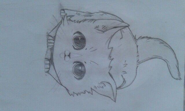 Quero um gato. Pode ser que este desenho comova a minha avó a dar-me um! ^^