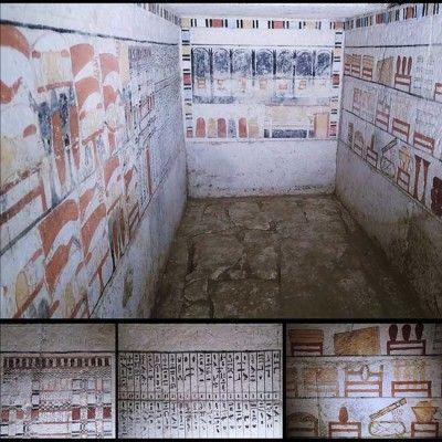 Impresionantes pinturas halladas en tumbas de antiguos sacerdotes egipcios