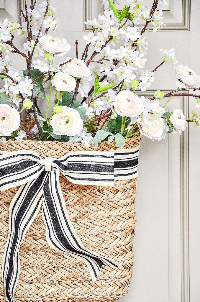Photo of PRETTY AND SIMPLE SPRING DOOR BASKET DIY – StoneGable