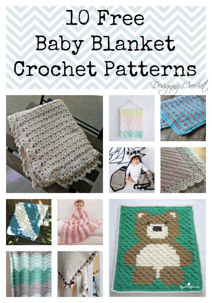 10 Free Crochet Baby Blanket Patterns | Crochet | Pinterest | Croché ...