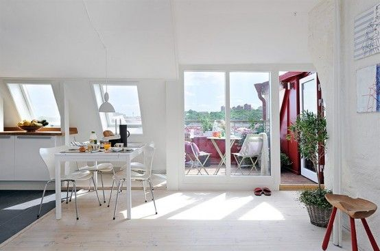 Design Styles, Decorating Ideas | Sweden Apartment Design with Cool 10 Square Meter Roof Terrace