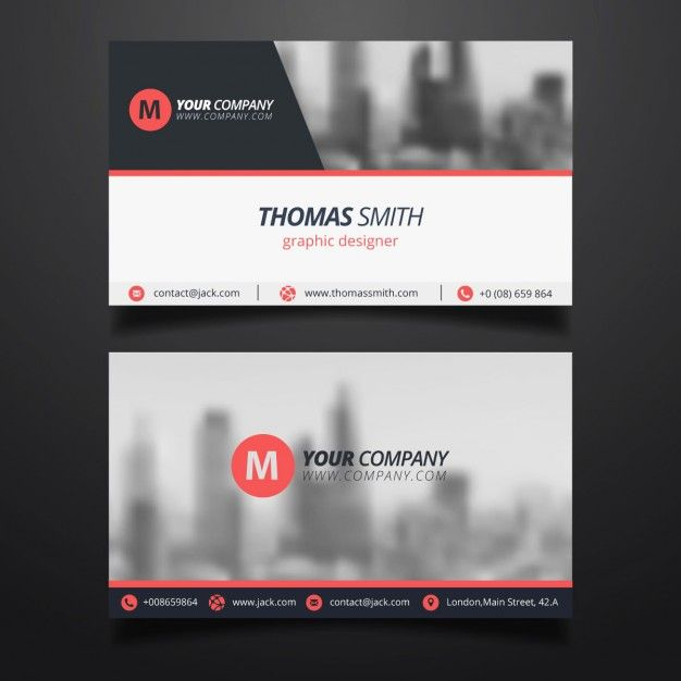 Red Vector Business Card TemplateFree Download Eightonesix - Free vector business card templates