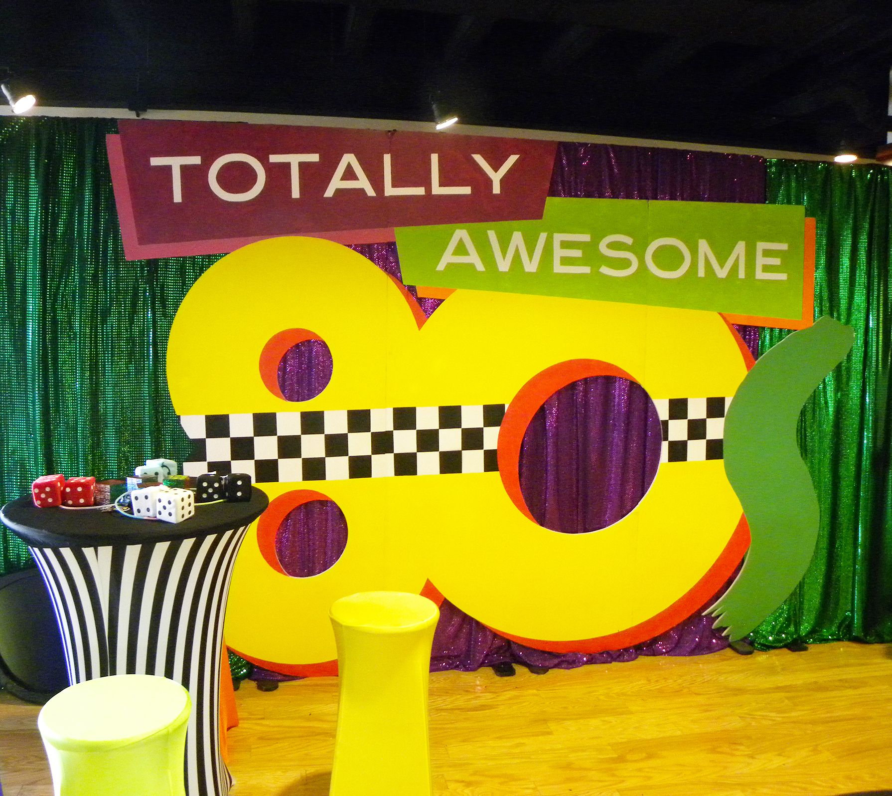 80s themed backdrop | #80s #awesome #theme #party #EventuresInc ...