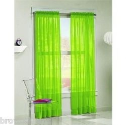 Perfect Lime Green Curtains! TOTALLY FOR ME!