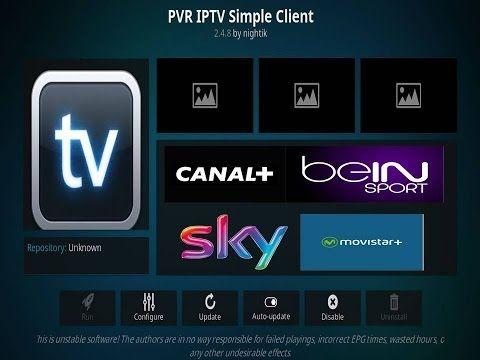 Tutoriel PVR Simple Client pour regarder les playlist TV sur