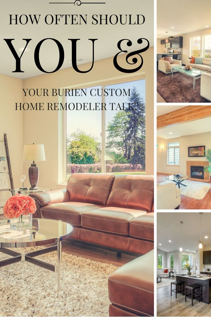 Considering remodeling your Seattle area home? Here is a helpful guide for new home remodelers on timelines and expectations with your remodeling team. http://info.powellrenovations.com/how-often-should-you-and-your-burien-custom-home-remodeler-talk