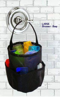Mesh Shower Bag - Large Black - By Saltwater Canvas, LLC. The Original