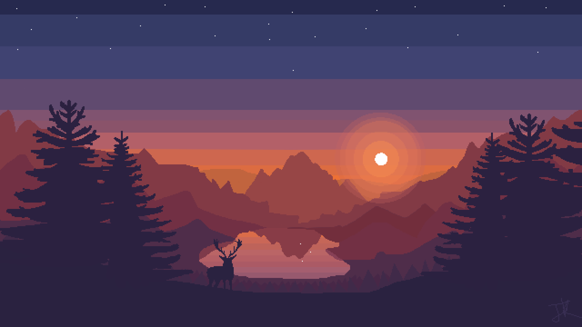 Firewatch Pixel Art 1920x1080 Need iPhone 6S Plus