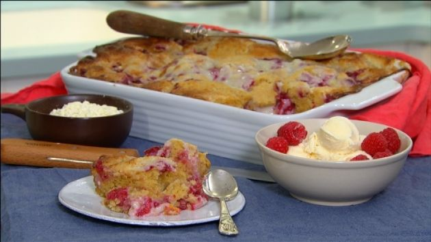 Dessert doesn't have to be a luxury – in fact with Ed's Peach, Raspberry and White Chocolate Pudding you can make and bake it in a matter of minutes. Full of fruit and a touch of white chocolate, this self-saucing pudding does everything itself except serve itself up on a plate.