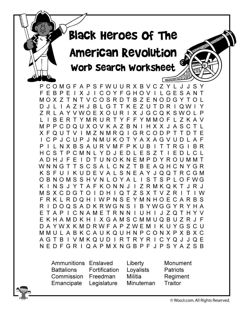 Black Heroes of the American Revolution Activities and Lesson Plan   Woo!  Jr. Kids Activities   History worksheets [ 1294 x 1000 Pixel ]