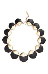 Rachel Zoe 'Alana' Leather Collar Necklace