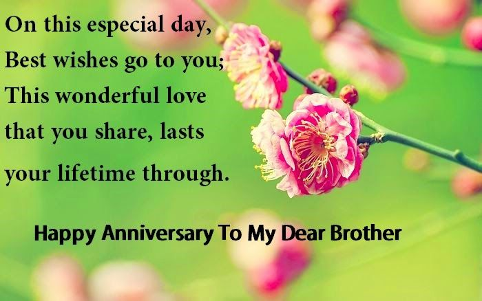Happy Anniversary wishes for Brother and sister in law Brother ...