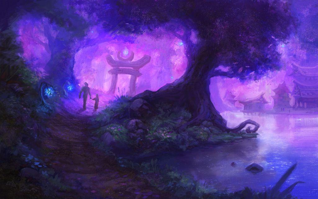 Purple Tinted Memories By Eepox On Deviantart Warcraft Art Night Elf World Of Warcraft World of warcraft wallpaper engine
