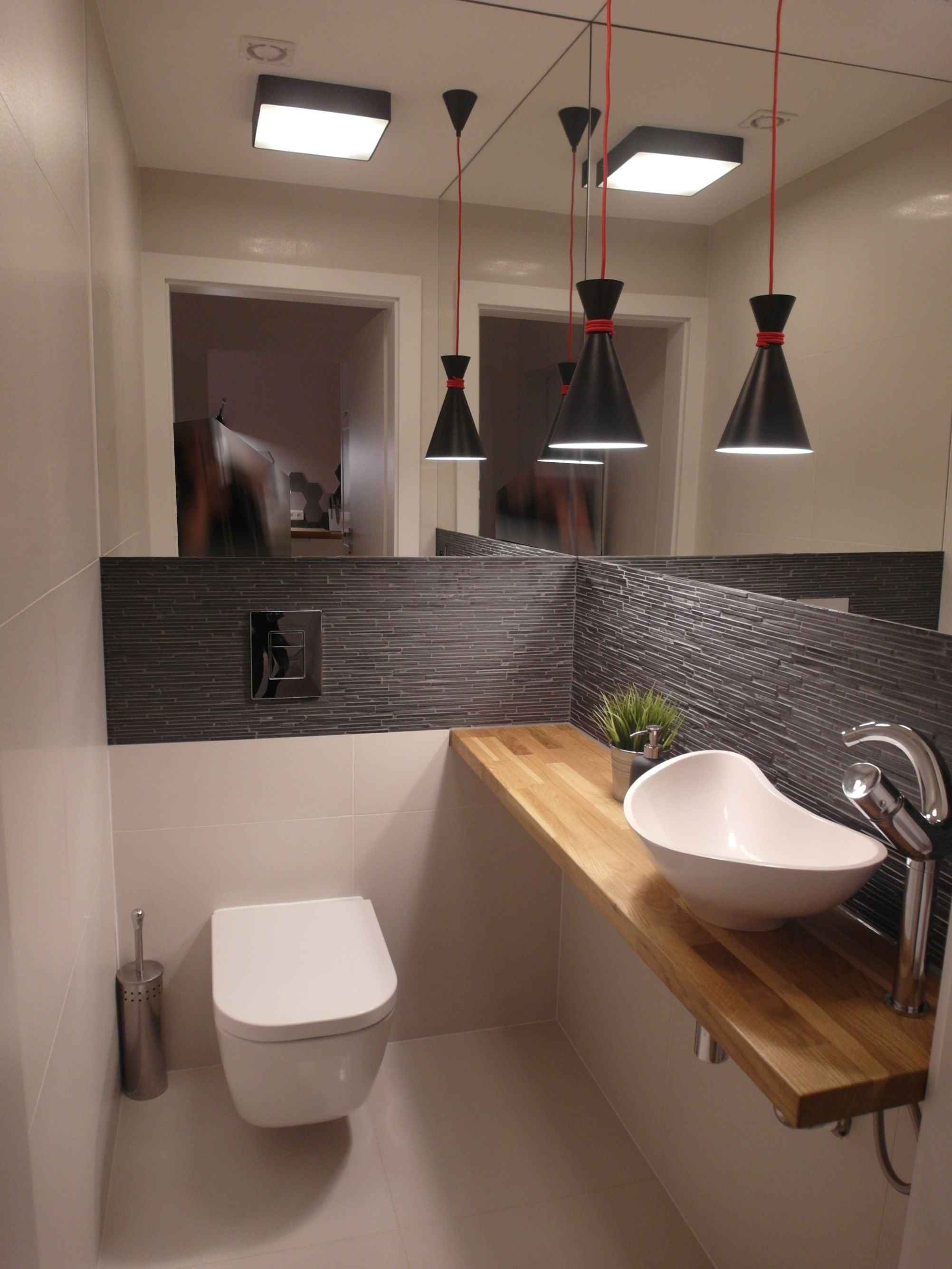 Bad Gste Toilette modern Wohnen Hausbau