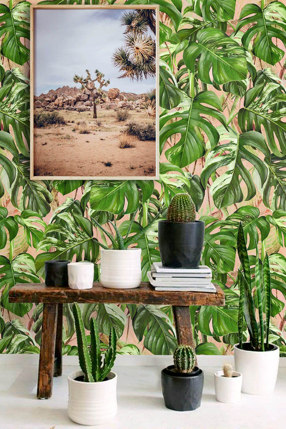 Palm Wallpaper Removable, Wallpaper Peel and stick