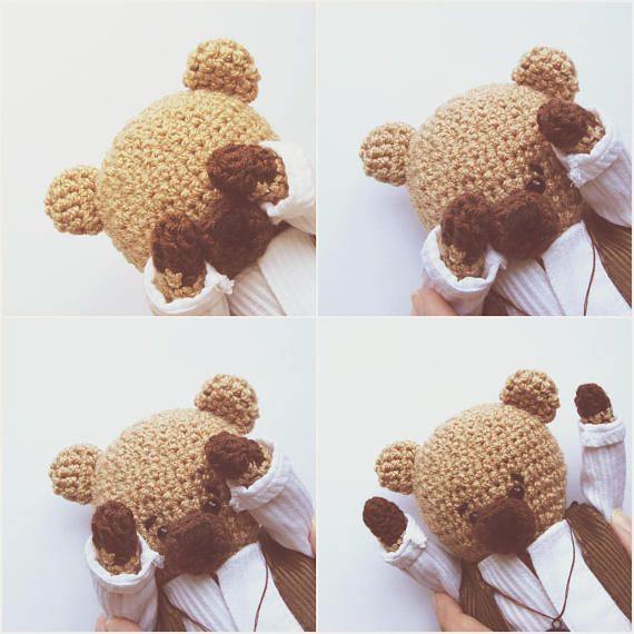 Easy crochet bear Amigurumi pattern How to crochet bear toy Crochet ...