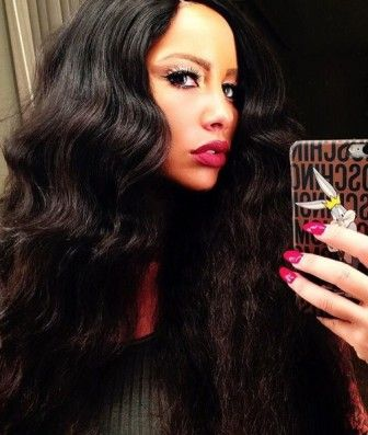 New Hair Alert Amber Rose Wears Long Brown Weave Kylie Jennerblonde